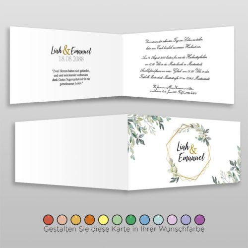 Hochzeitskarte D 4S Rea