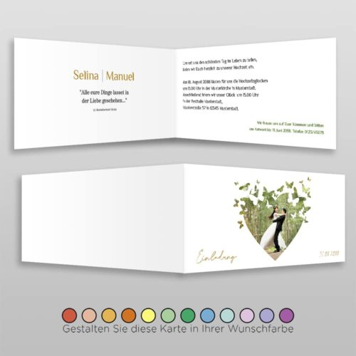 Hochzeitskarte D 4S Selina