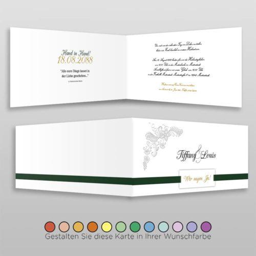 Hochzeitskarte D 4S Tiffany