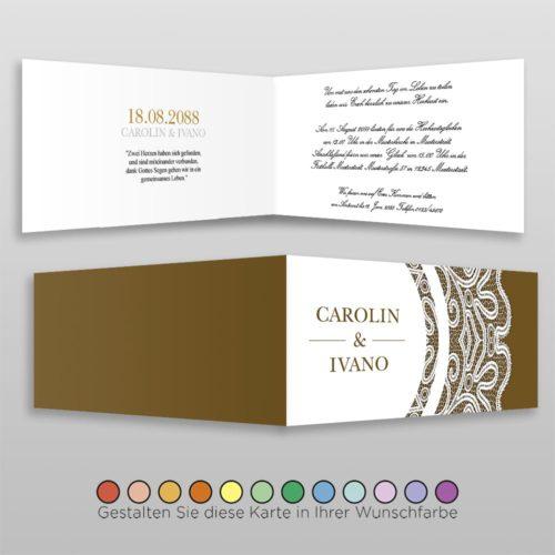 Hochzeitskarte D 4S Vivianna