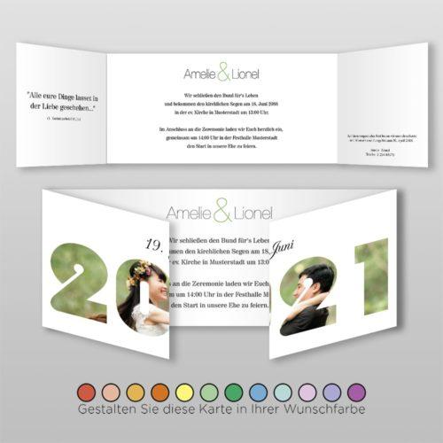 Hochzeitskarte D 6S Amelie