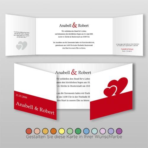Hochzeitskarte D 6S Anabell