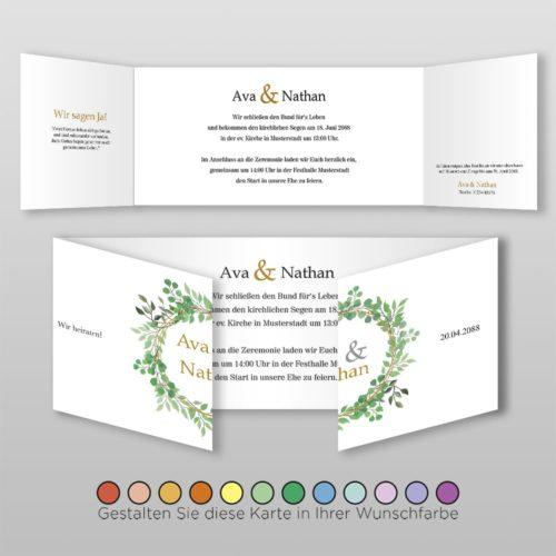 Hochzeitskarte D 6S Ava 2