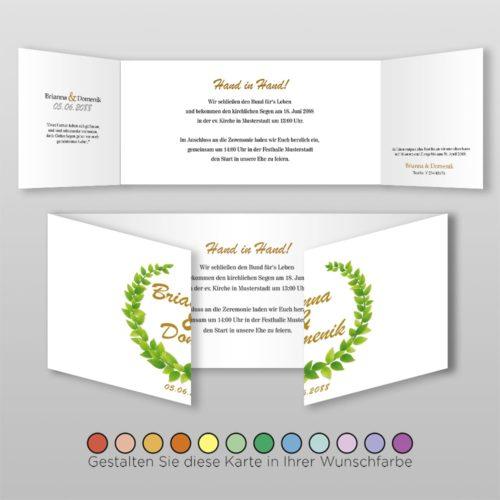 Hochzeitskarte D 6S Brianna