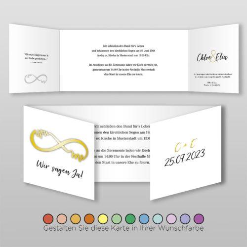 Hochzeitskarte D 6S Chloe
