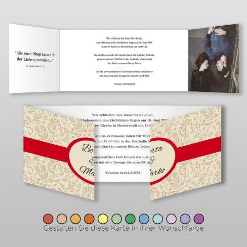 Hochzeitskarte D-6S Fortuna 02