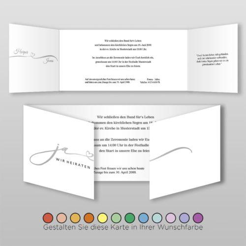 Hochzeitskarte D 6S Harper