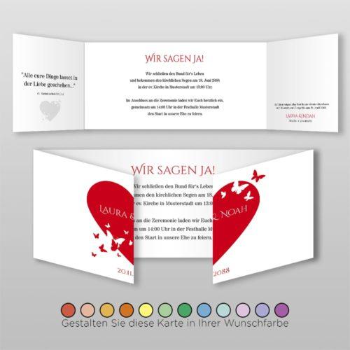 Hochzeitskarte D 6S Laura