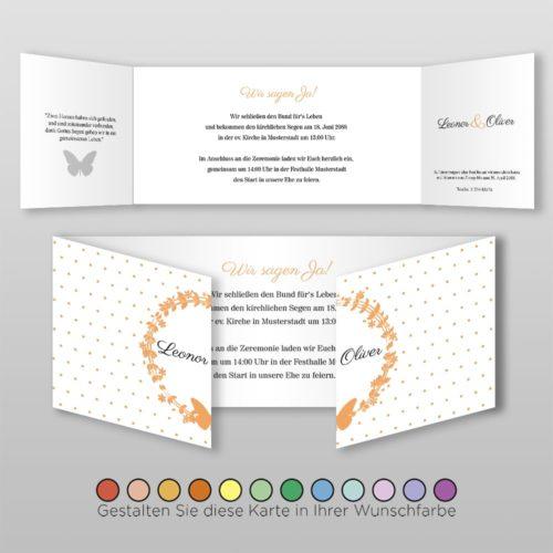 Hochzeitskarte D 6S Leonor