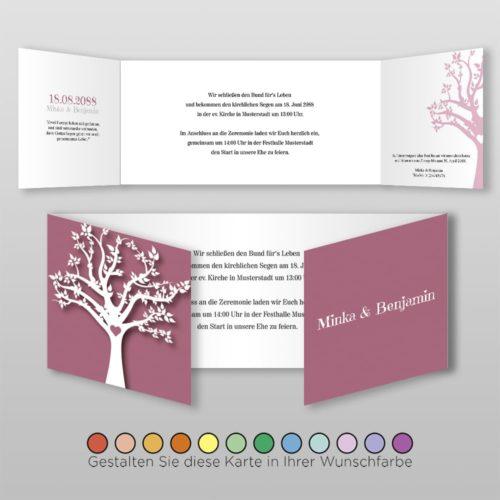 Hochzeitskarte D 6S Minka