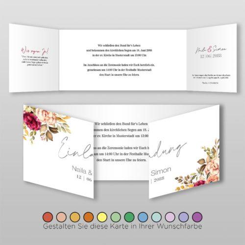 Hochzeitskarte D 6S Naila