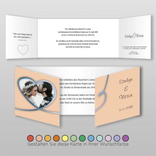 Hochzeitskarte D 6S Nele