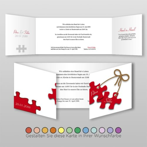 Hochzeitskarte D 6S Petra