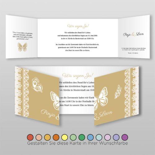 Hochzeitskarte D 6S Pinja