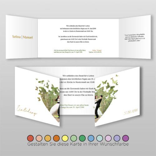 Hochzeitskarte D 6S Selina