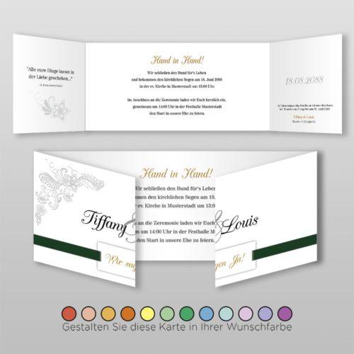Hochzeitskarte D 6S Tiffany
