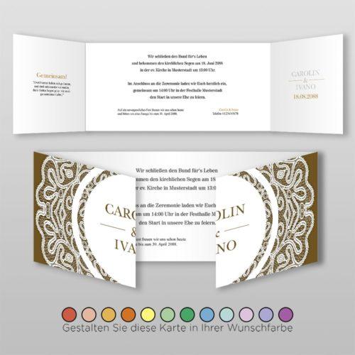 Hochzeitskarte D 6S Vivianna