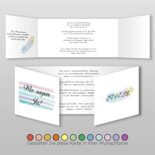Hochzeitskarte Dayla D_6S