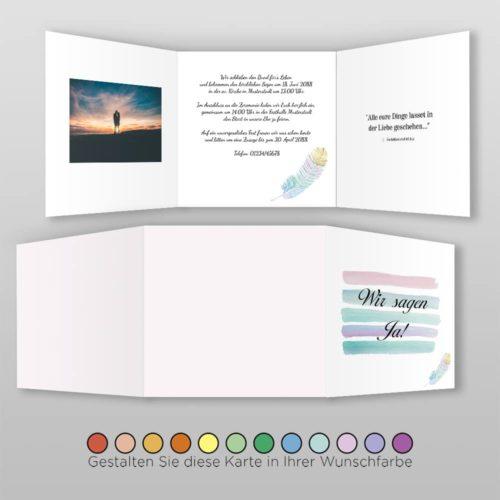 Hochzeitskarte Dayla Q_6S