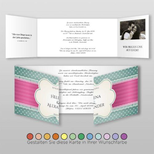 Hochzeitskarte Eva D-6S
