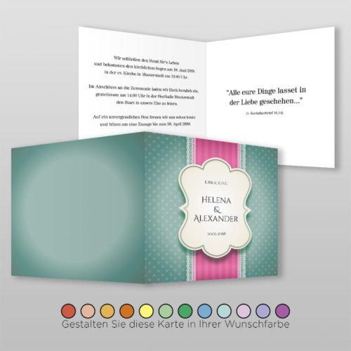 Hochzeitskarte Eva Q-4S