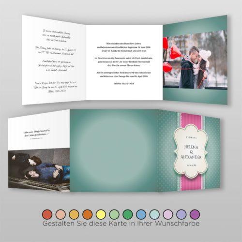 Hochzeitskarte Eva Q-6S