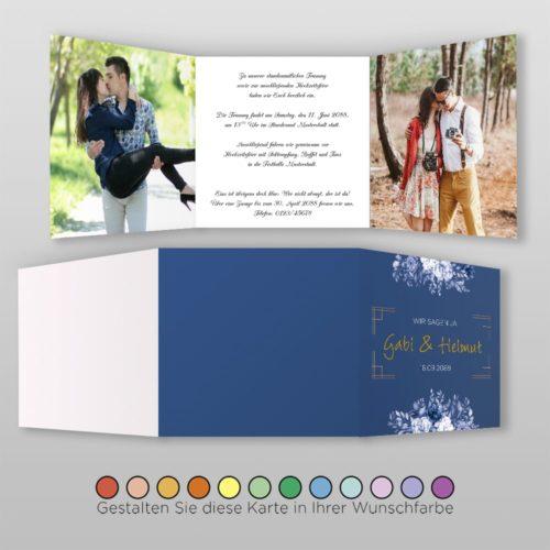 Hochzeitskarte Felicia Q-6S