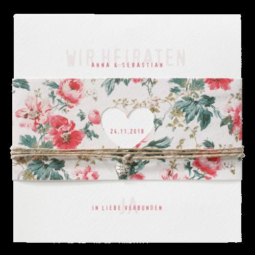 Hochzeitskarte Flower 01