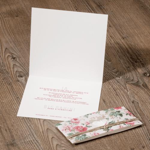 Hochzeitskarte Flower 02