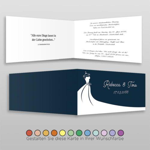 Hochzeitskarte Frida D-4S