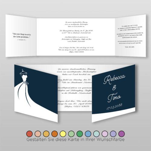 Hochzeitskarte Frida D-6S