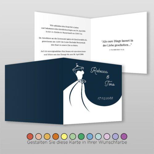 Hochzeitskarte Frida Q-4S