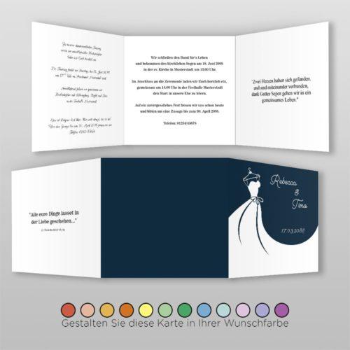 Hochzeitskarte Frida Q-6S