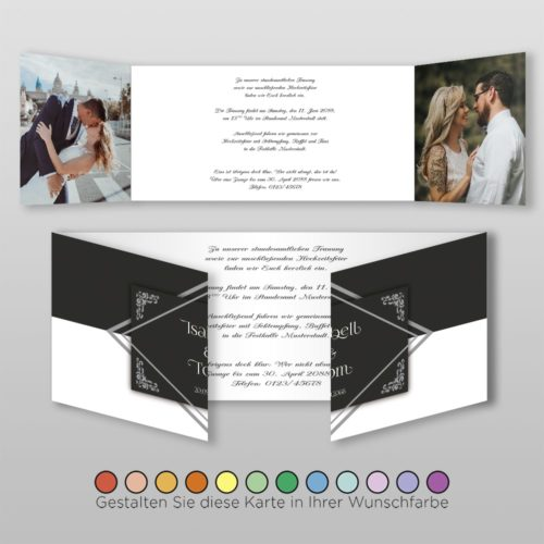 Hochzeitskarte Gwen D-6S