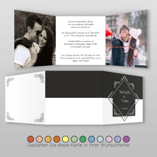 Hochzeitskarte Gwen Q-6S