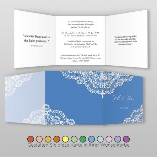 Hochzeitskarte Hanna Q-6S