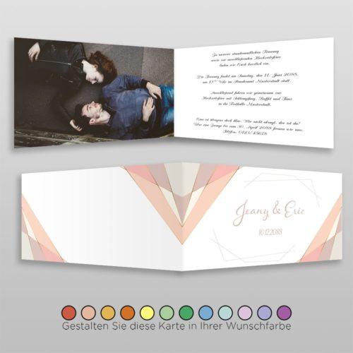 Hochzeitskarte Heidi D-4S