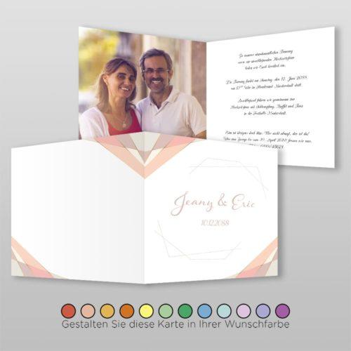 Hochzeitskarte Heidi Q-4S