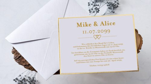 Hochzeitskarte Isa 01