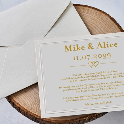 Hochzeitskarte Juna