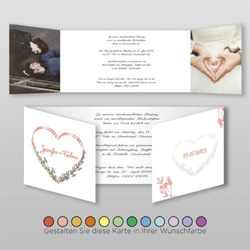 Hochzeitskarte Lory D_6S