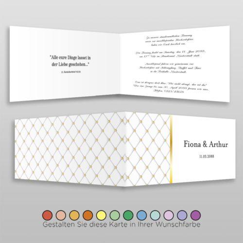 Hochzeitskarte Louisa D-4S