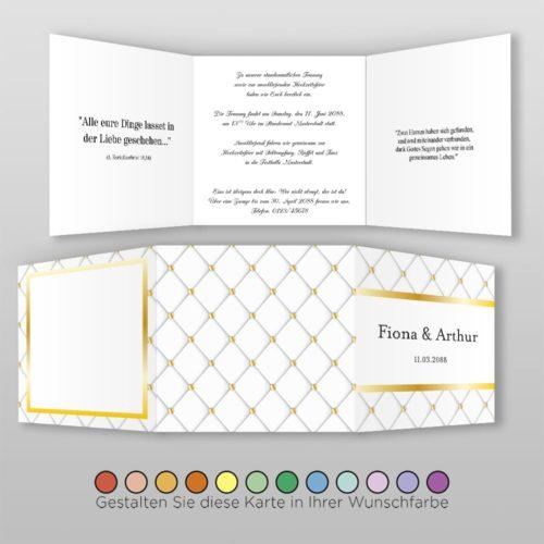 Hochzeitskarte Louisa Q-6S