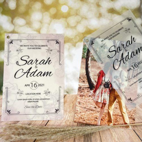 Hochzeitskarte Noble 3