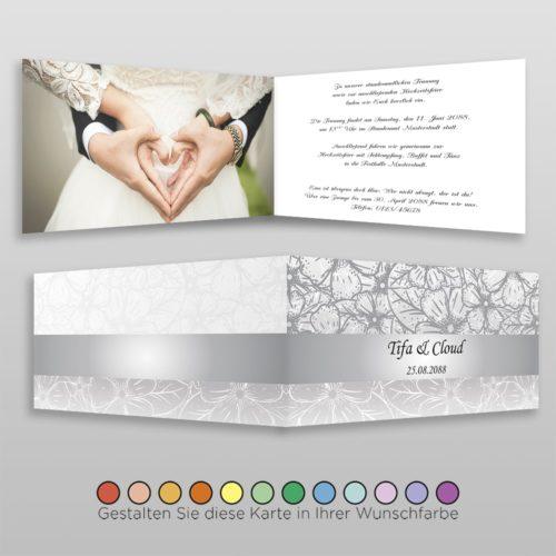 Hochzeitskarte Nora D-4S