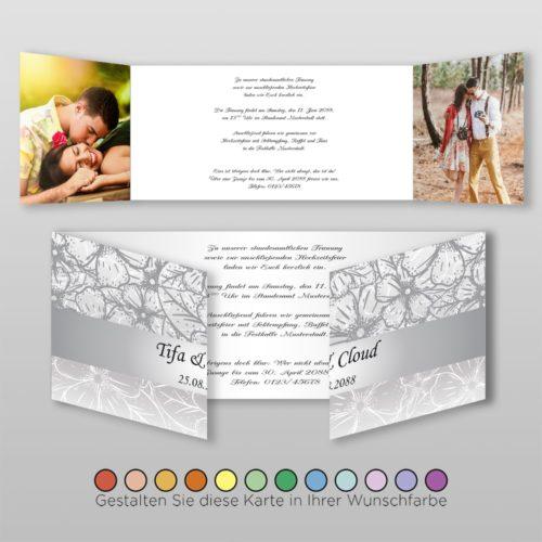Hochzeitskarte Nora D-6S