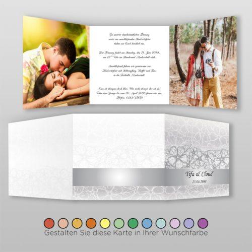 Hochzeitskarte Nora Q-6S