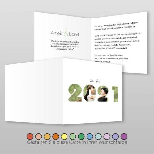 Hochzeitskarte Q 4S Amelie