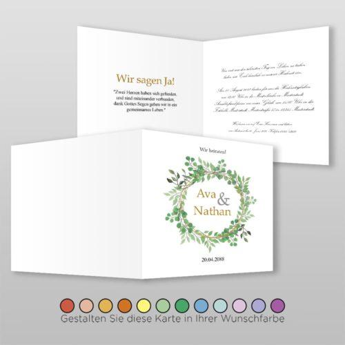 Hochzeitskarte Q 4S Ava 2