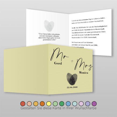 Hochzeitskarte Q 4S Clara 2